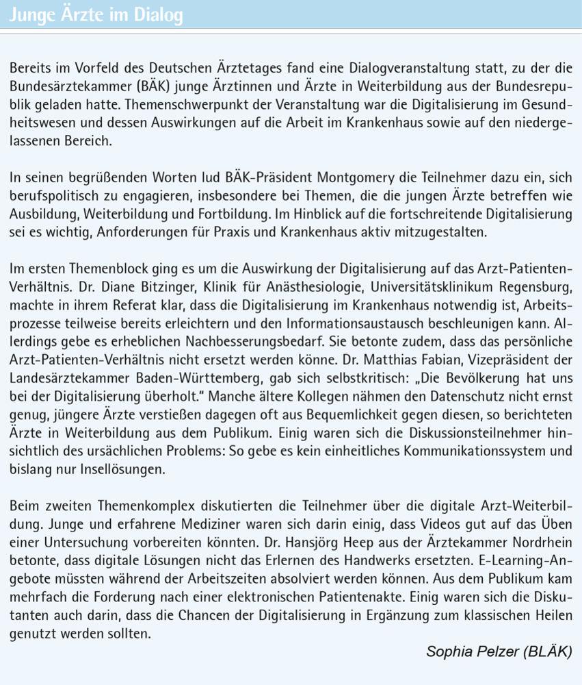 Gesundheitspolitik in der Schwarzwaldmetropole - Bayerisches Ärzteblatt