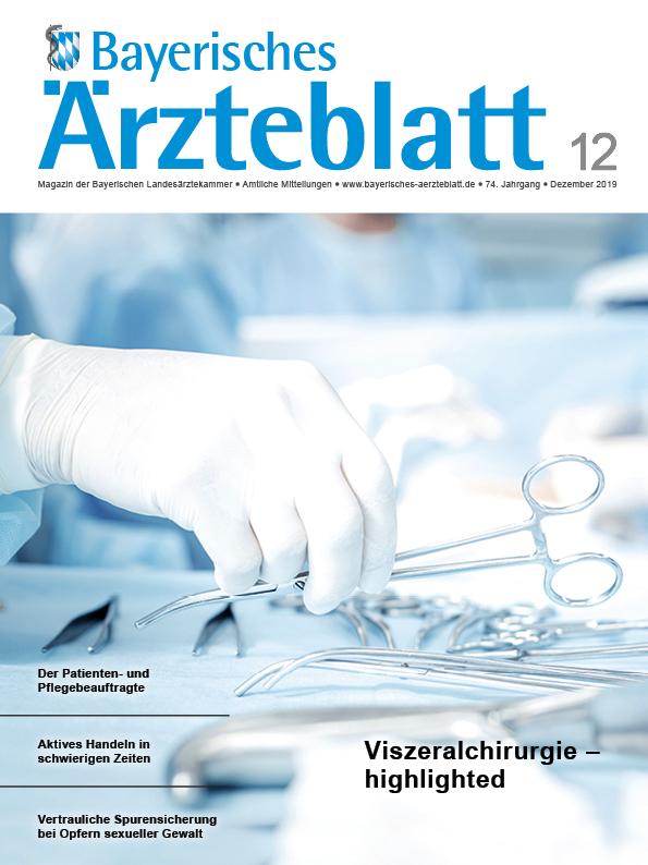 Die Dezember-Ausgabe des Bayerischen Ärzteblattes ist erschienen.