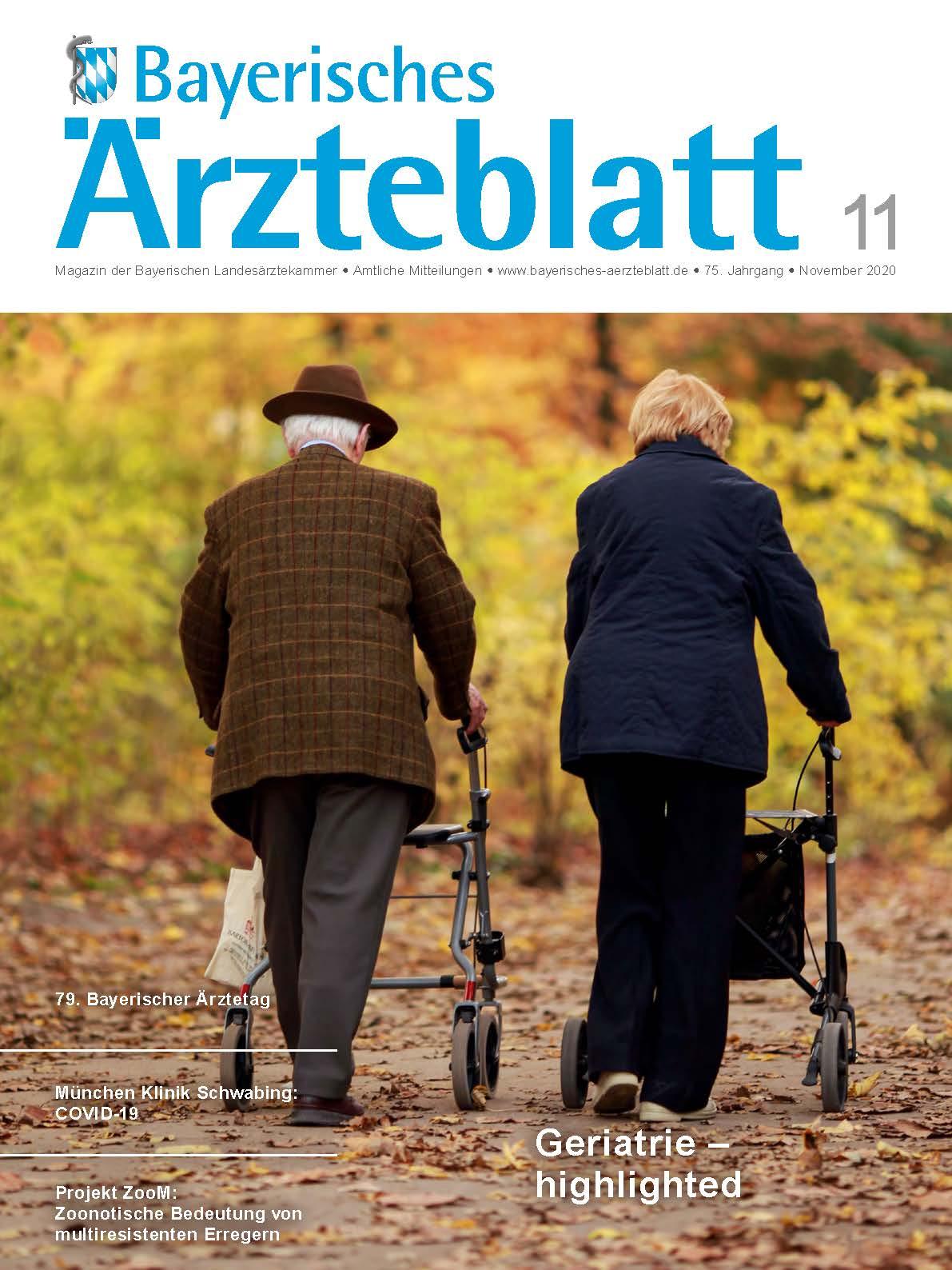 Die November-Ausgabe des Bayerischen Ärzteblatts ist erschienen.