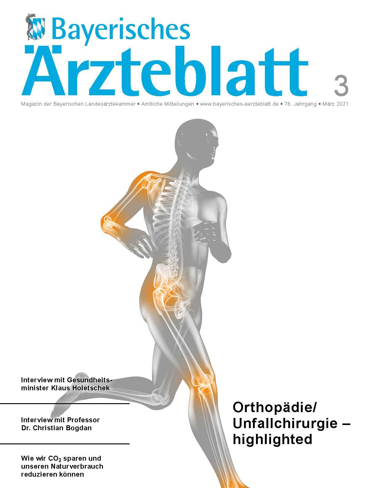 Die März-Ausgabe des Bayerischen Ärzteblatts ist erschienen.