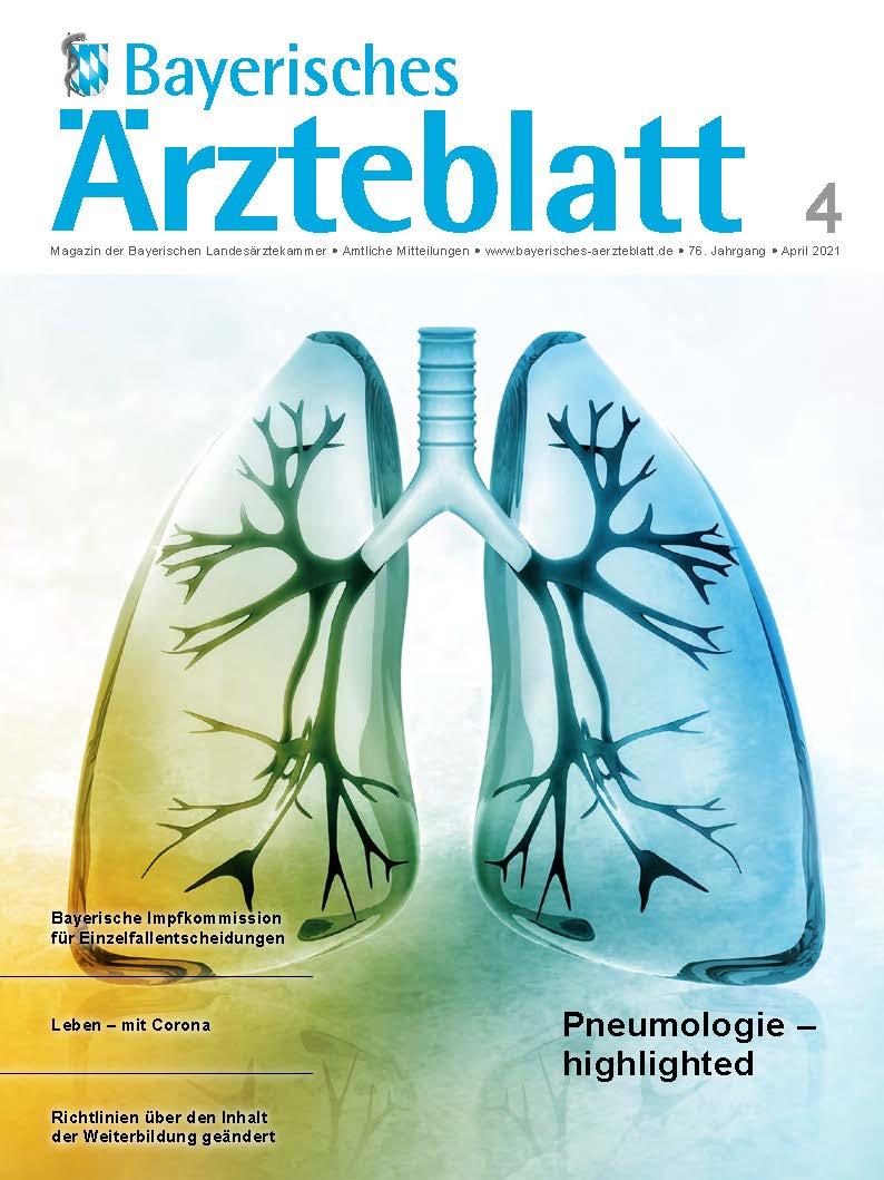 Die April-Ausgabe des Bayerischen Ärzteblatts ist erschienen.