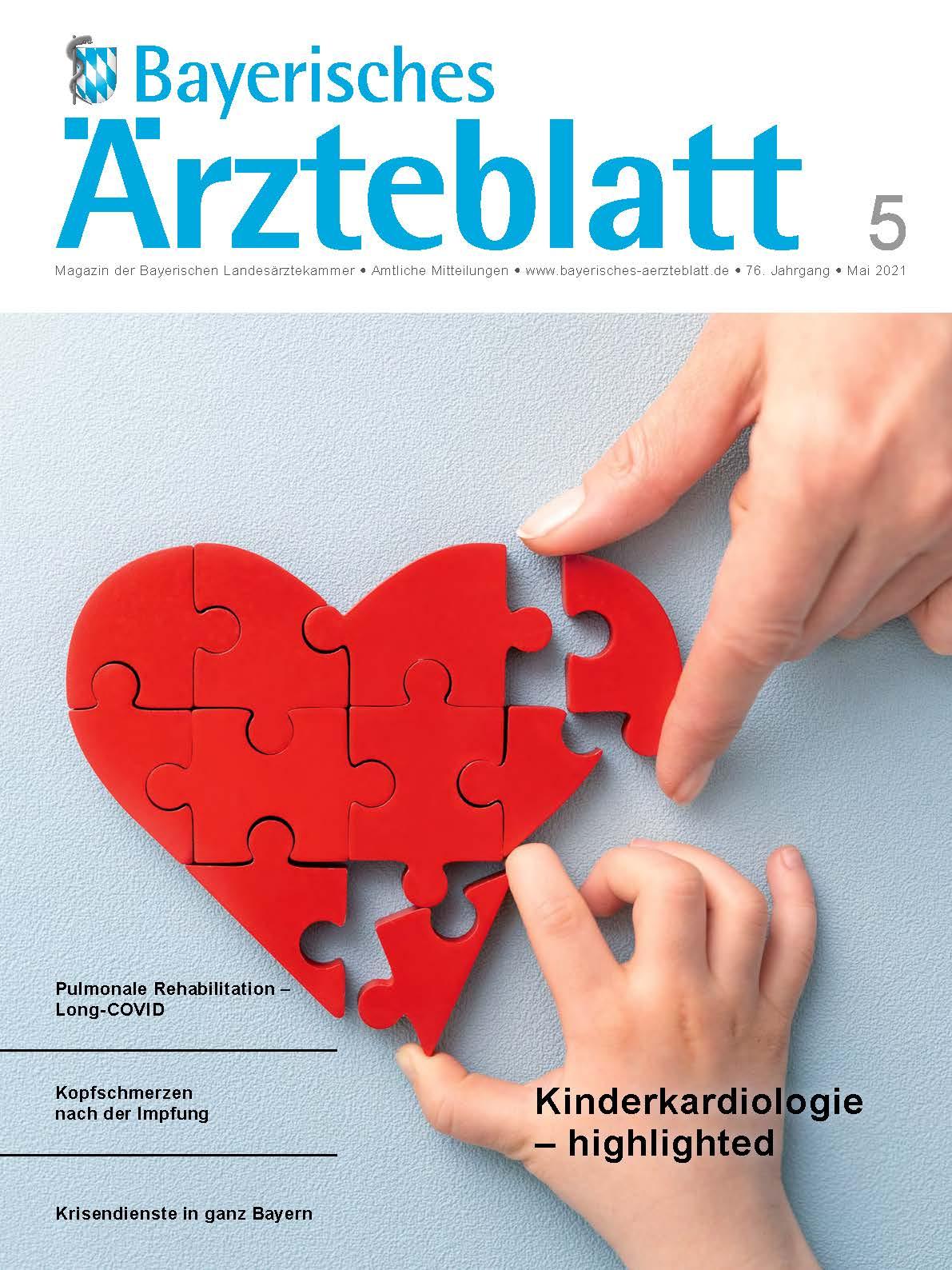 Die Mai-Ausgabe des Bayerischen Ärzteblatts ist erschienen.