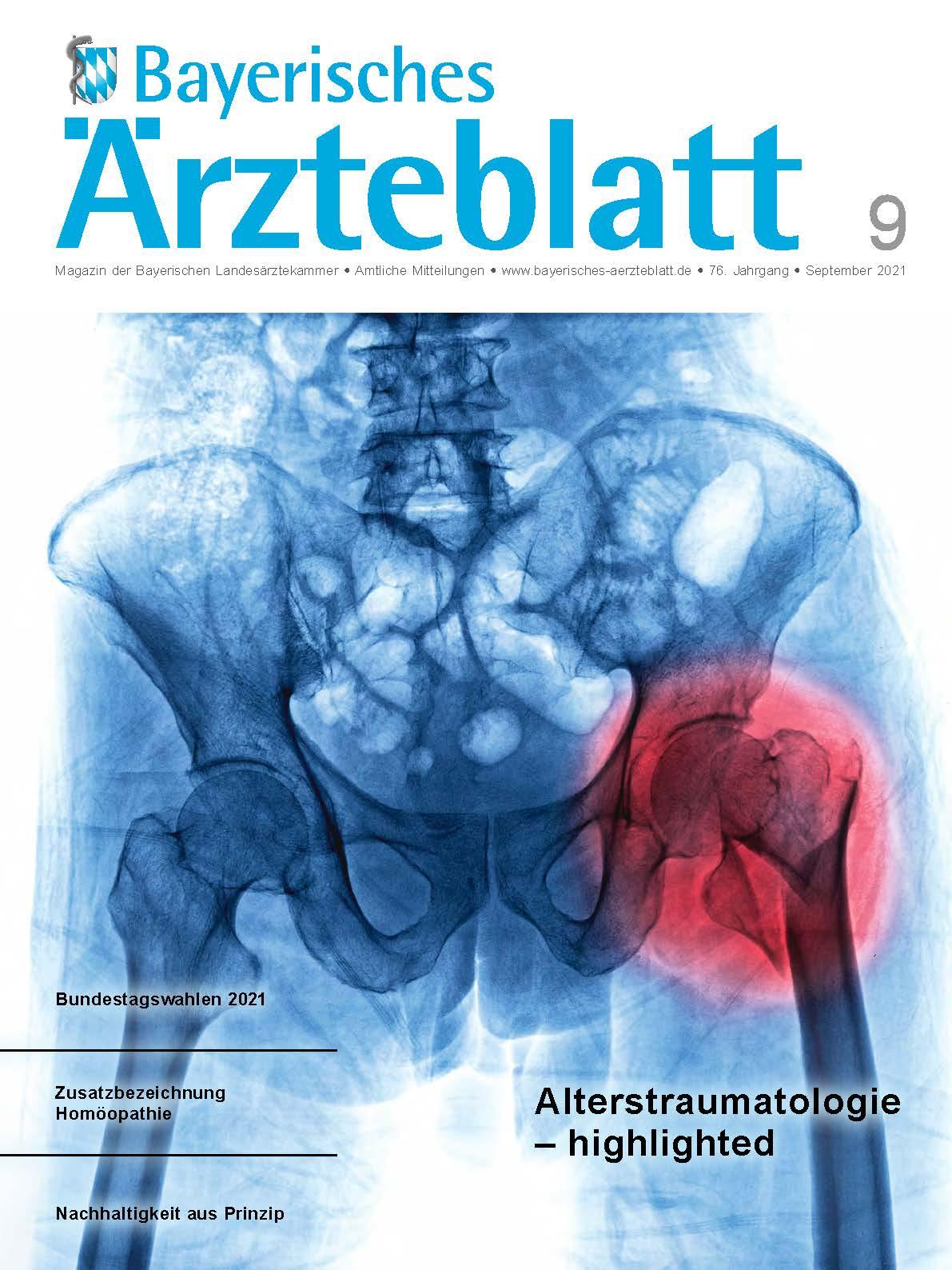 Die September-Ausgabe des Bayerischen Ärzteblatts ist erschienen.